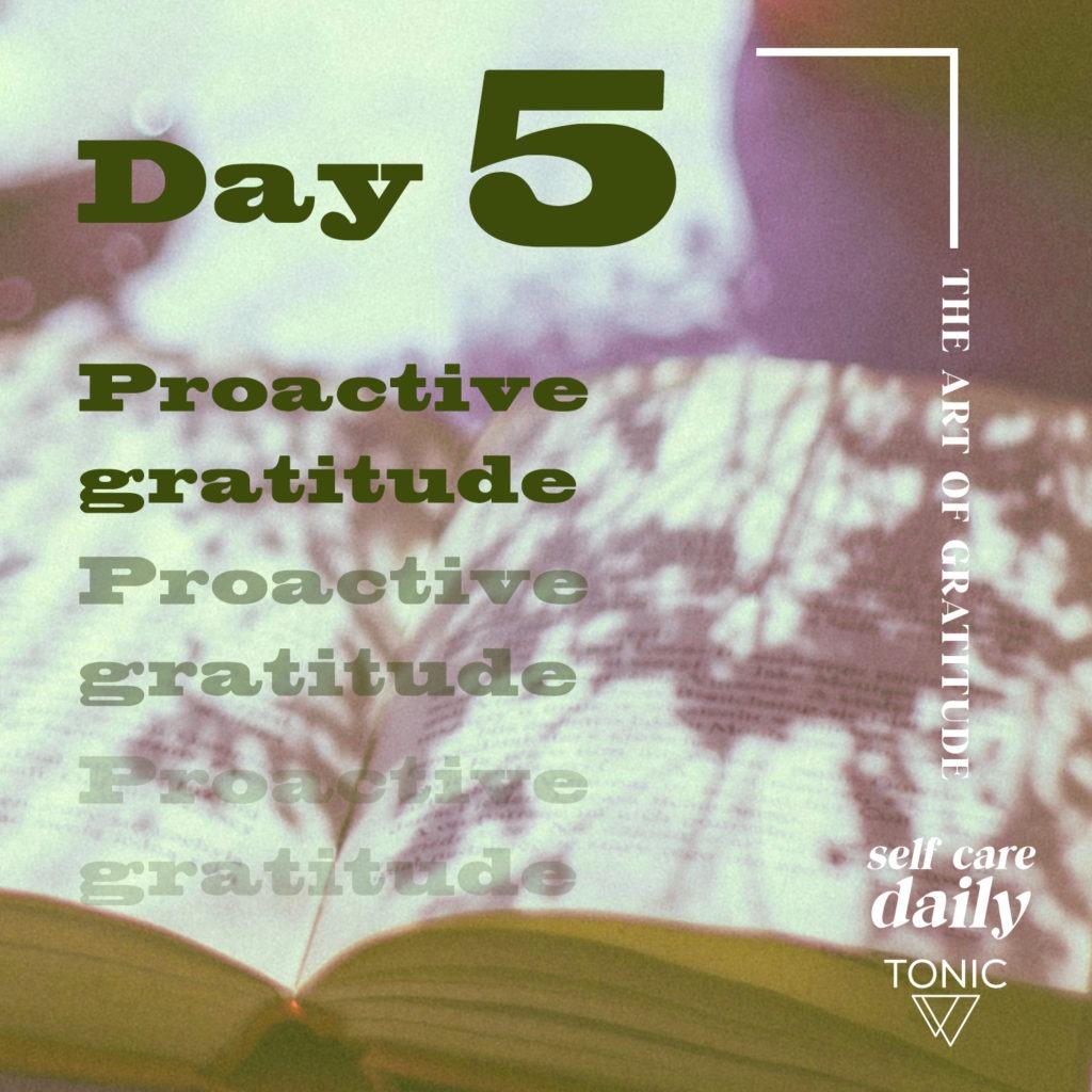 proactive gratitude