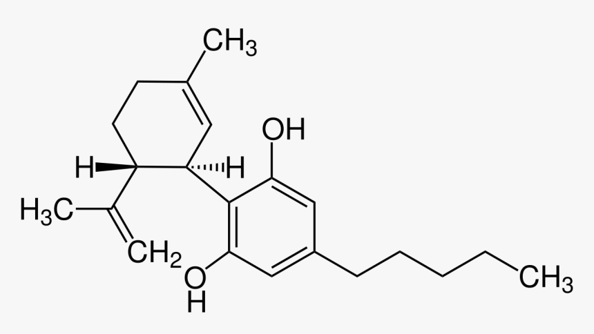 molecular structure of cannabidiol also known as CBD